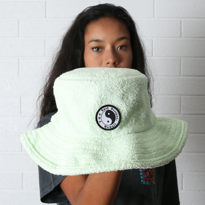 Terry Beach Hat - Lime (S/M)