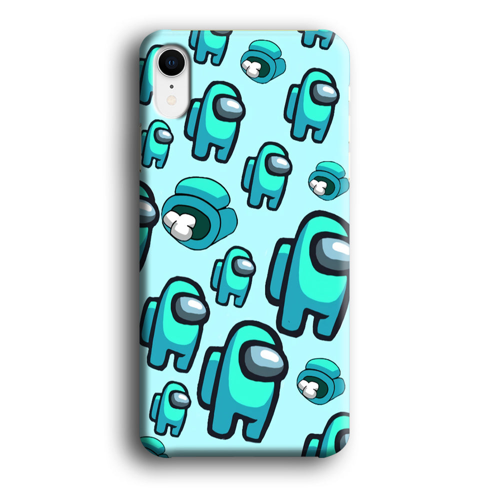 Among Us Sky Blue iPhone XR 3D Case