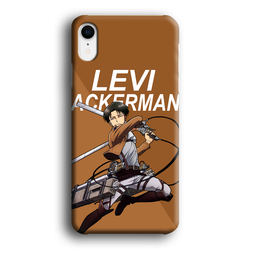 Attack on Titan Levi Ackerman iPhone XR 3D Case