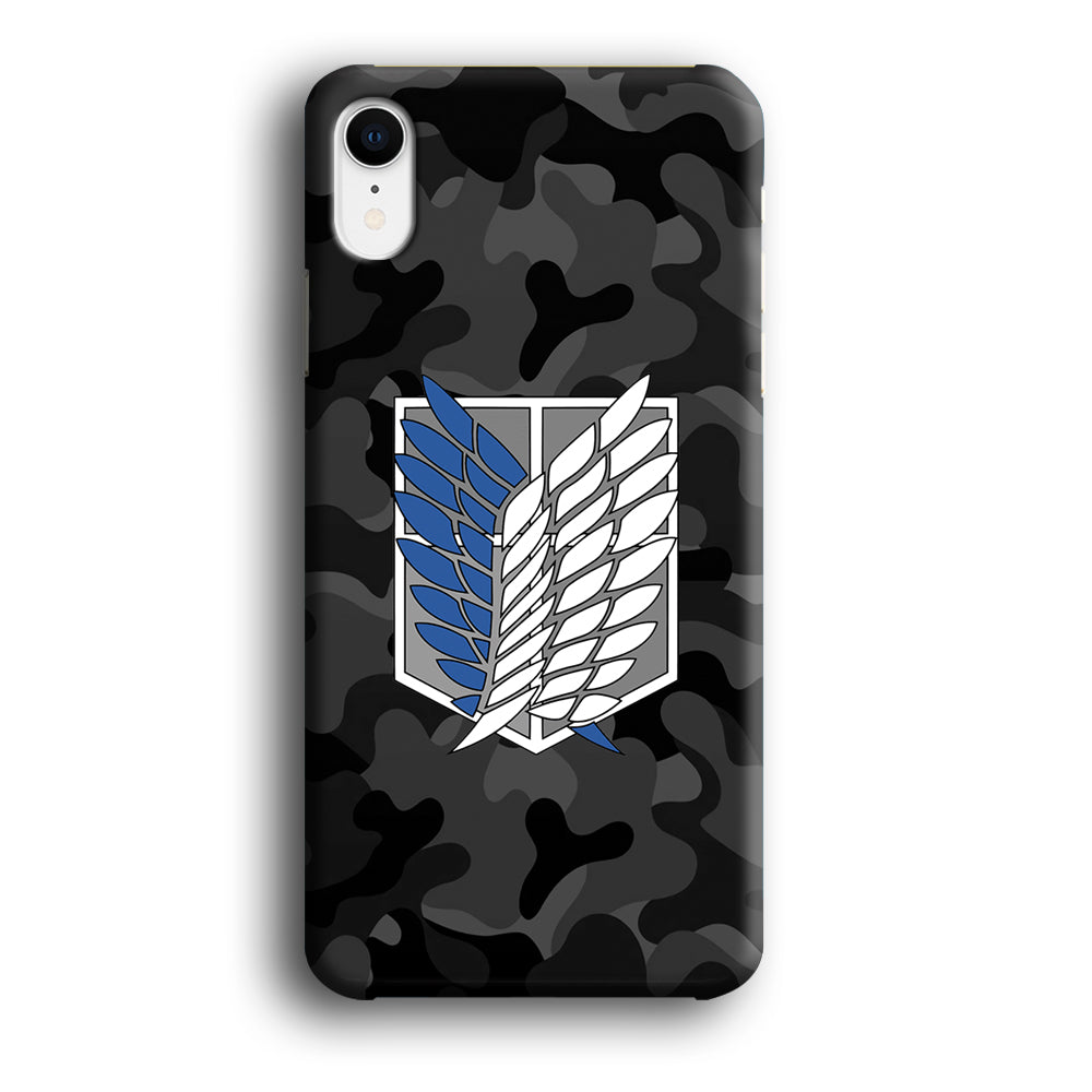 Attack on Titan Scouting Legion Camo Grey iPhone XR 3D Case
