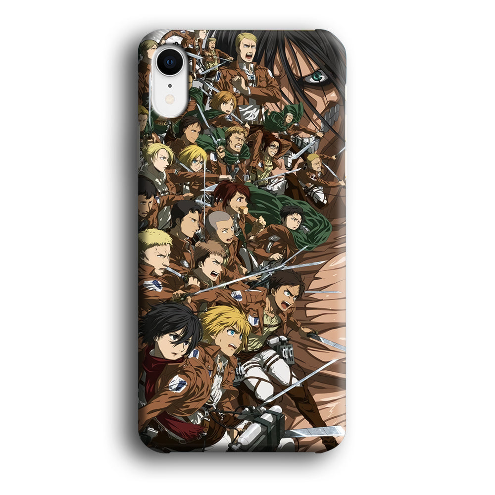Attack on Titan with Titan iPhone XR 3D Case