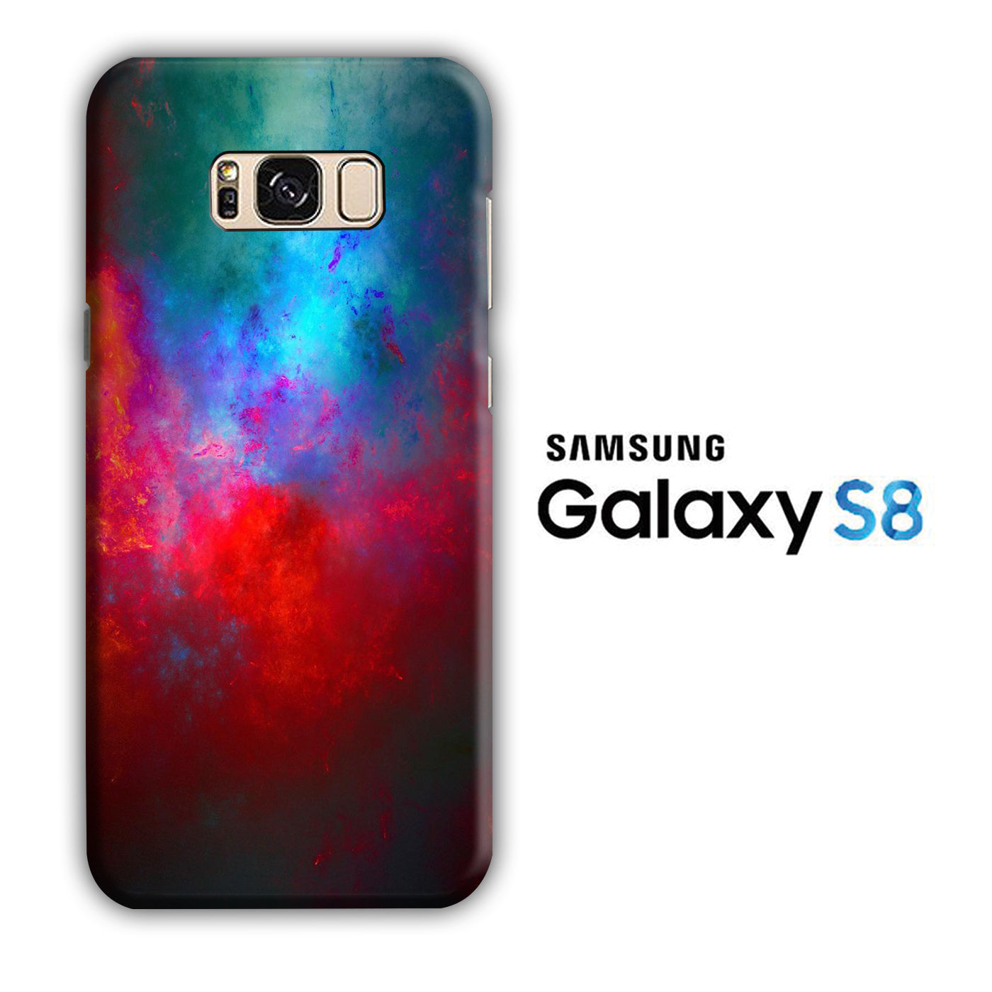Blend Dark Red Blue Samsung Galaxy S8 3D Case - casecarney - 3D Case