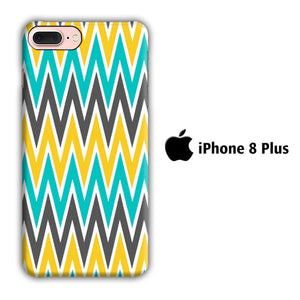 Chevron 3 Colour iPhone 8 Plus 3D Case - casecarney - 3D Case