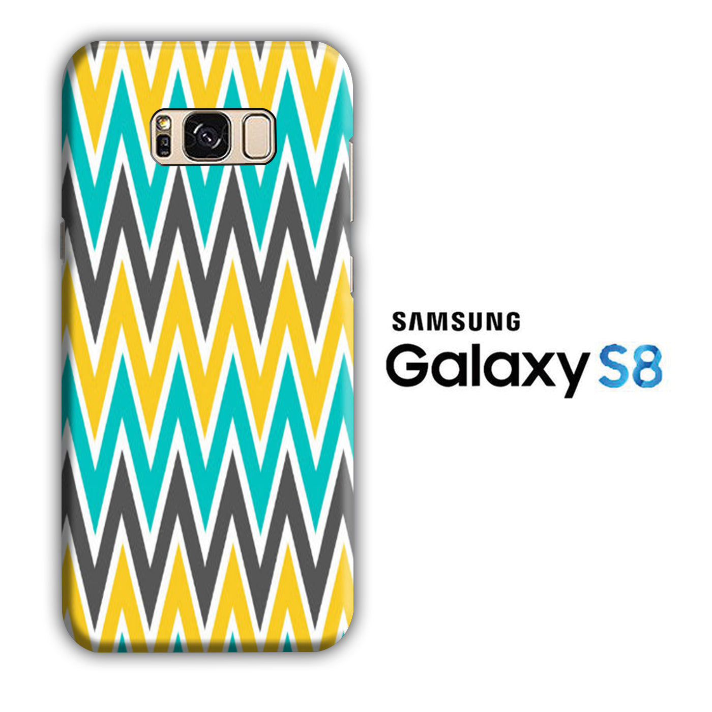 Chevron 3 Colour Samsung Galaxy S8 3D Case
