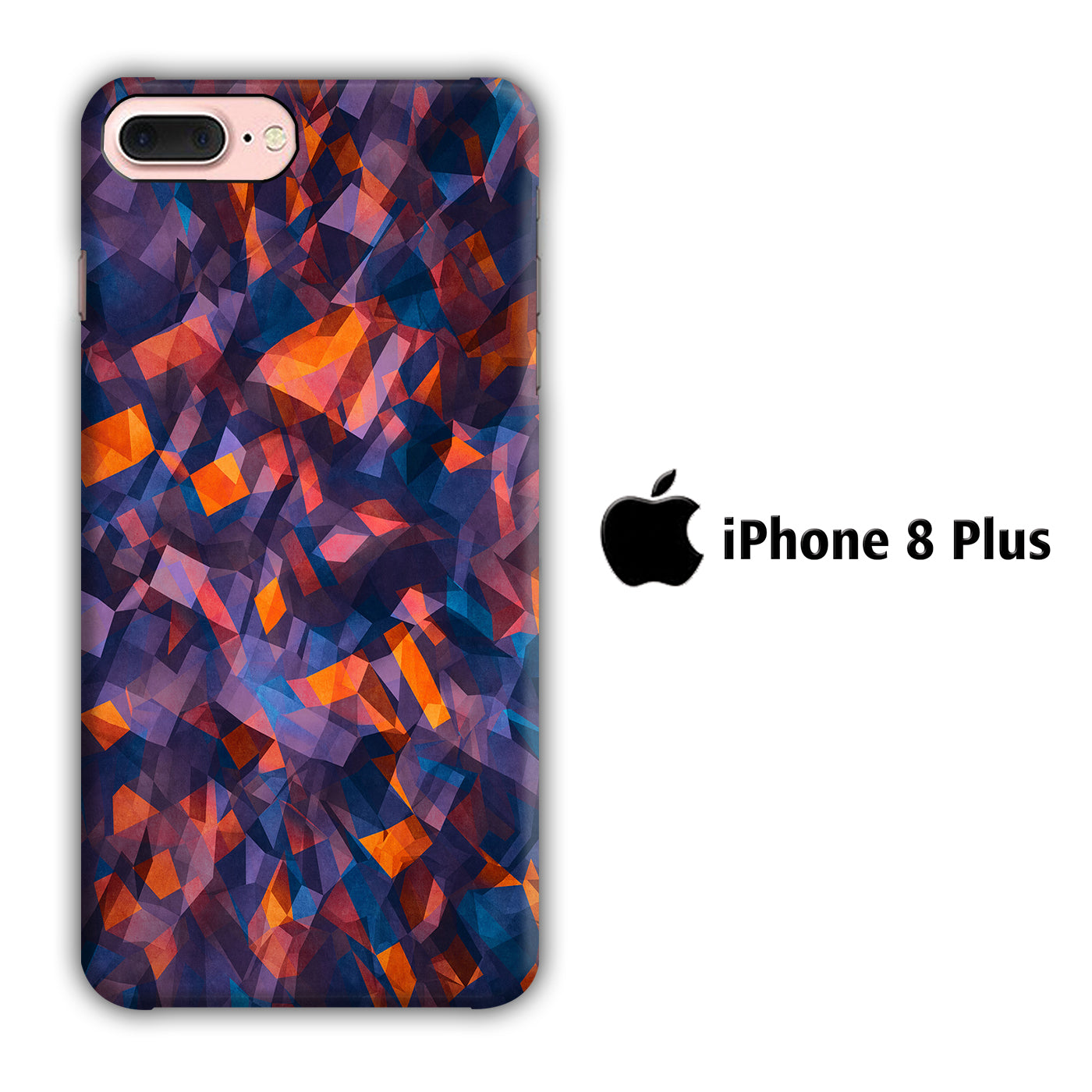 Colour Blue Orange iPhone 8 Plus 3D Case - casecarney - 3D Case