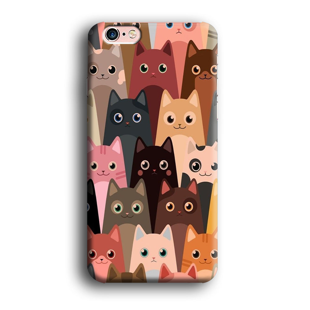 Cute Cat Close Up iPhone 6 Plus | 6s Plus 3D Case
