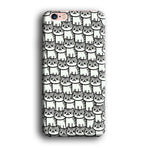 Cute Cat Gray iPhone 6 Plus | 6s Plus 3D Case