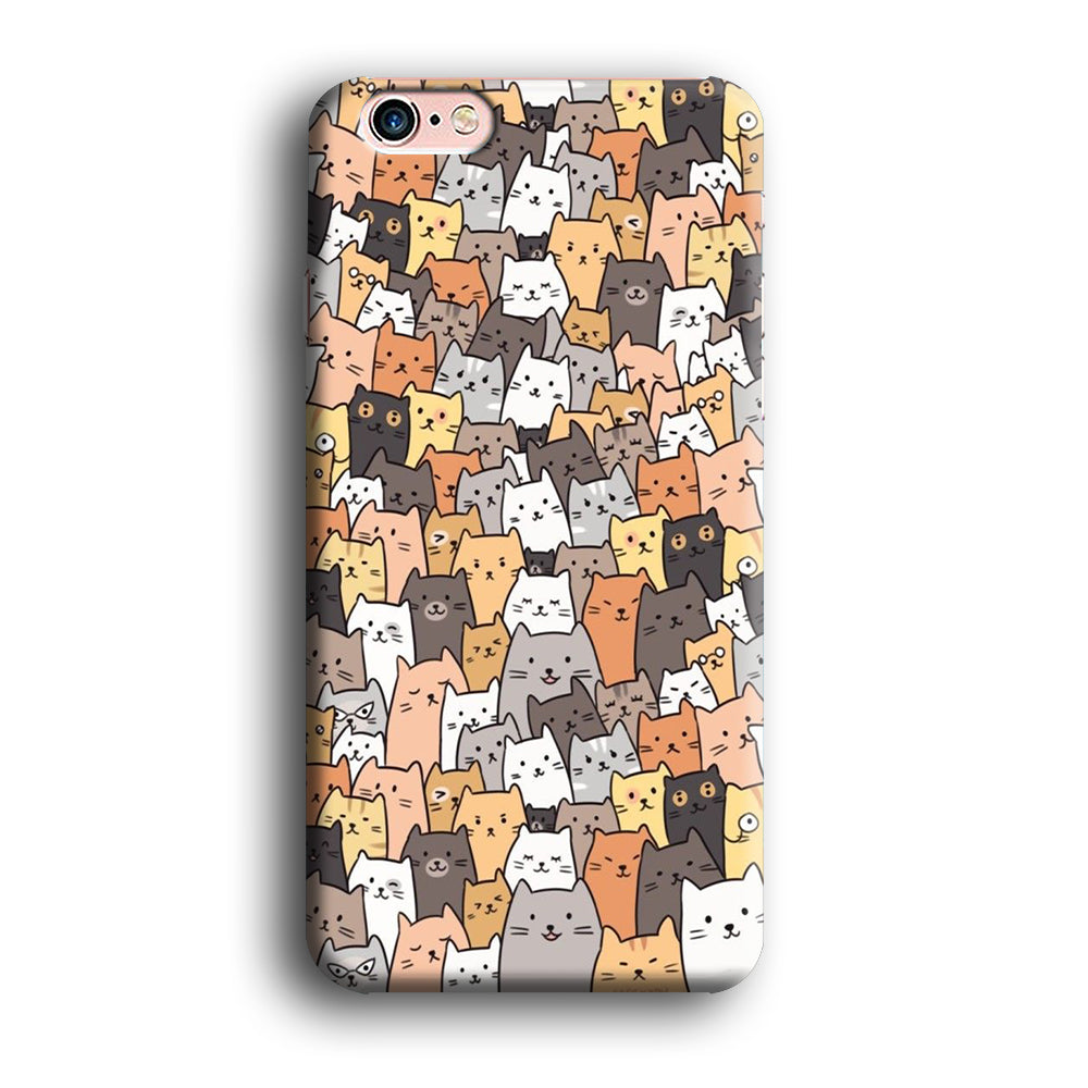 Cute Cat Pupulace iPhone 6 Plus | 6s Plus 3D Case