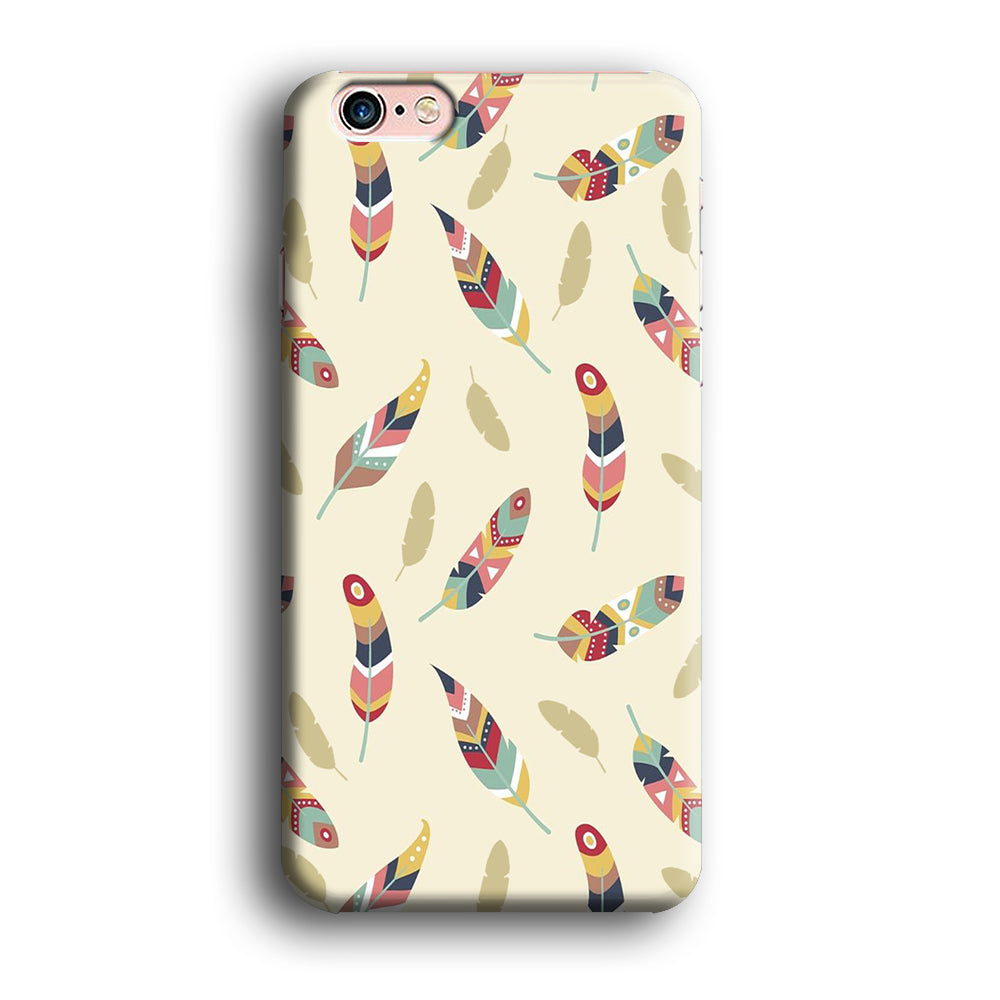Feather Cream Colour iPhone 6 Plus | 6s Plus 3D Case