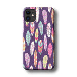 Feather Orchid Purple iPhone 11 3D Case