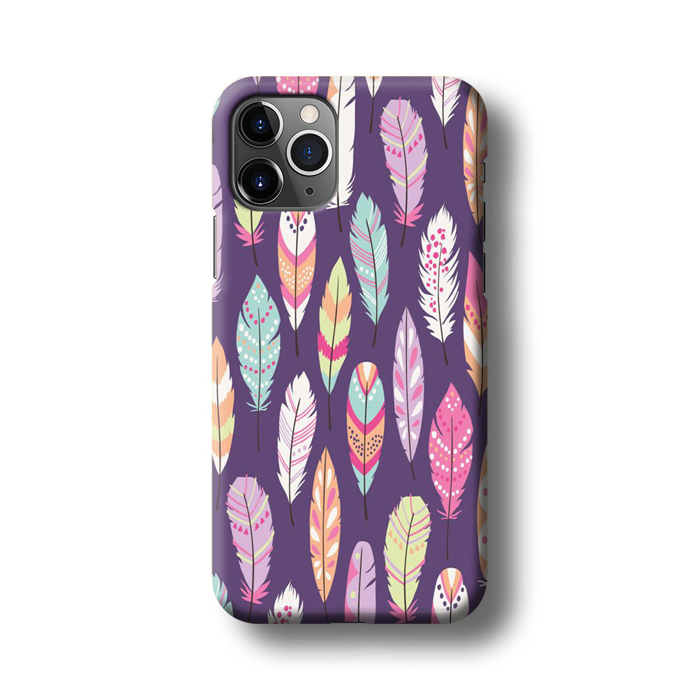 Feather Orchid Purple iPhone 11 Pro 3D Case