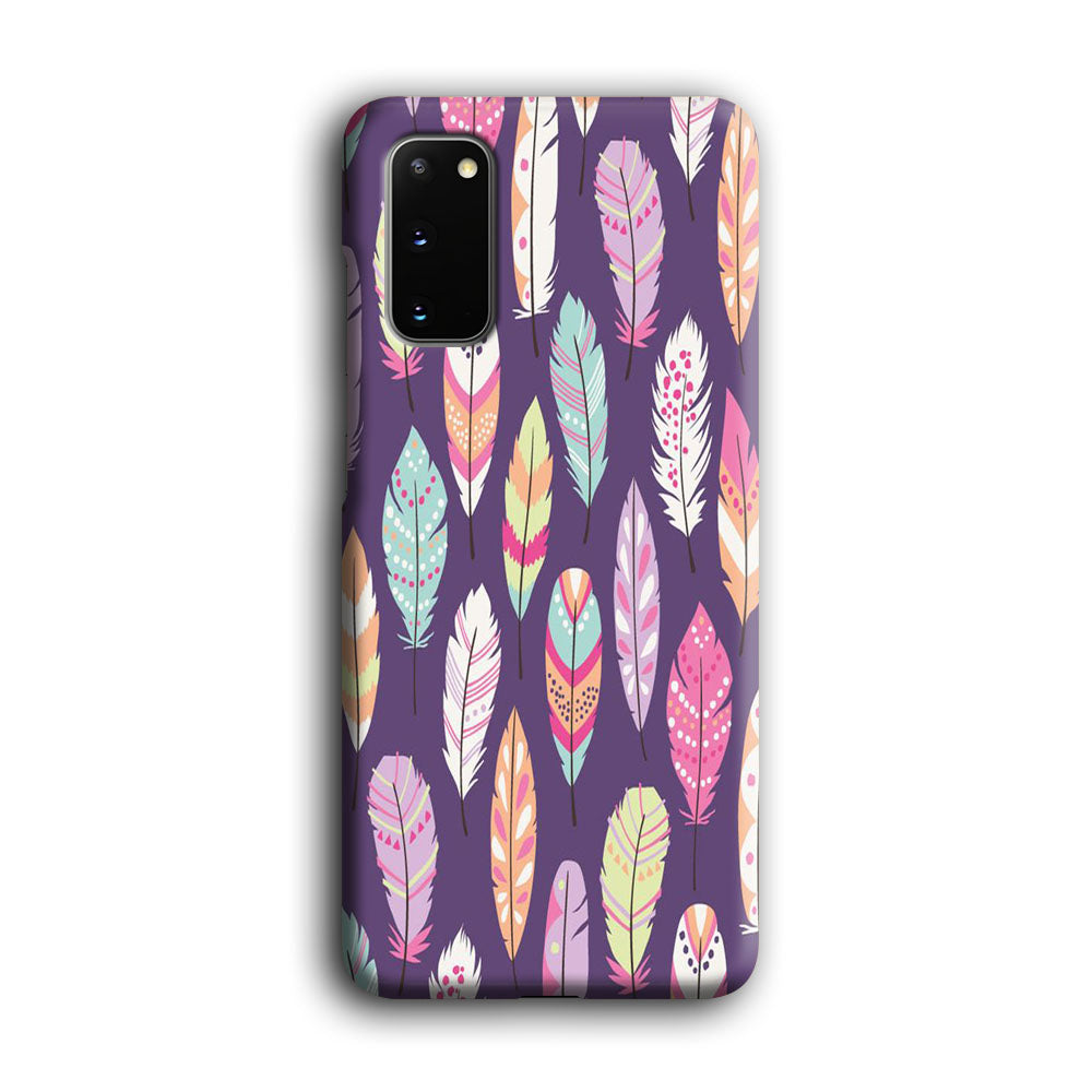Feather Orchid Purple Samsung Galaxy S20 3D Case