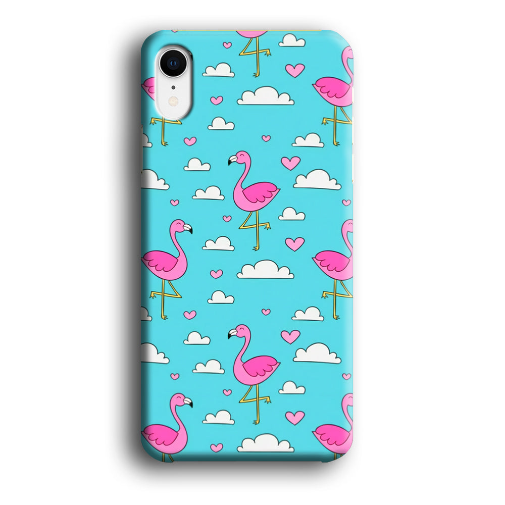 Flamingo Blue Cloud iPhone XR 3D Case
