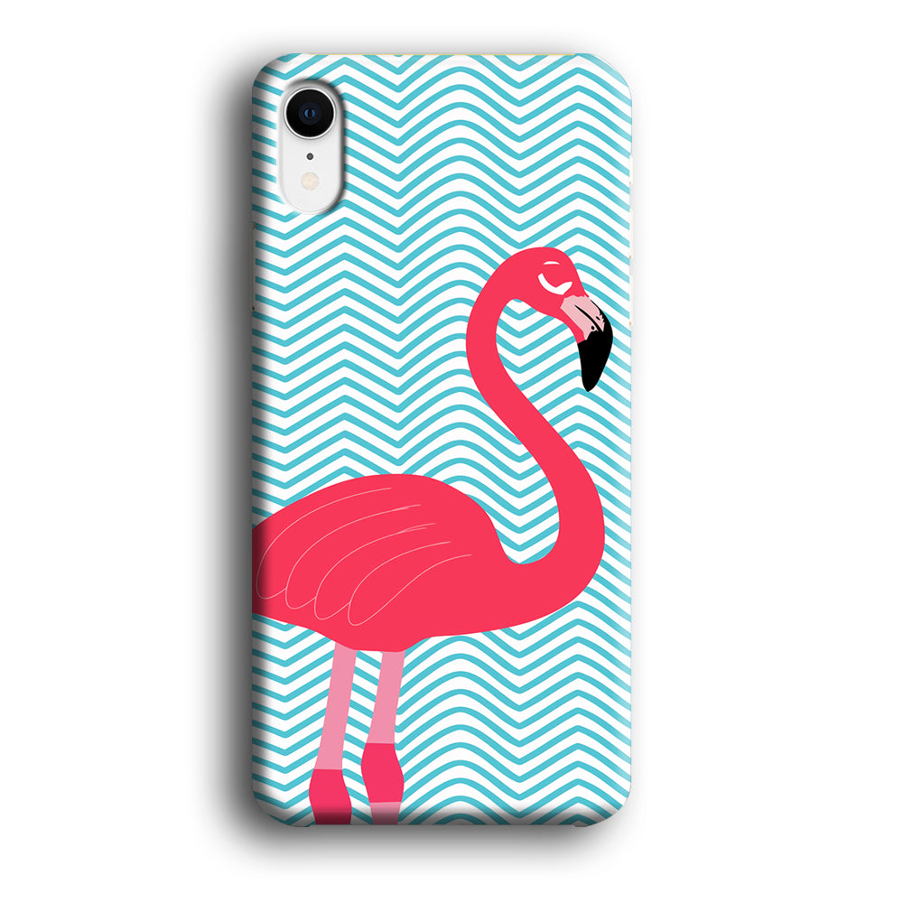 Flamingo Blue Stripe iPhone XR 3D Case
