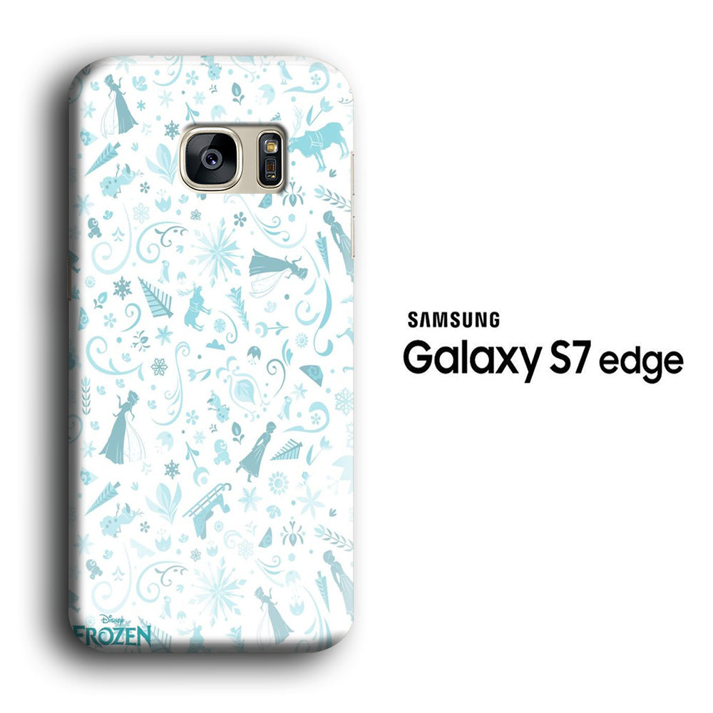 Frozen White Wallpaper Samsung Galaxy S7 Edge 3d Case Casecarney