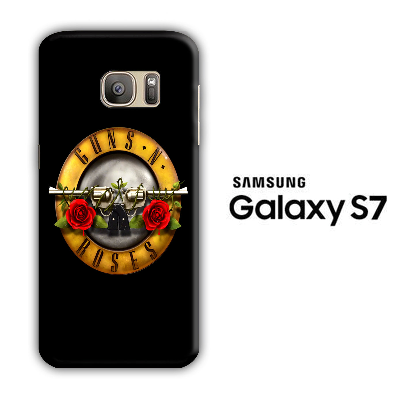 GNR Black Samsung Galaxy S7 3D Case