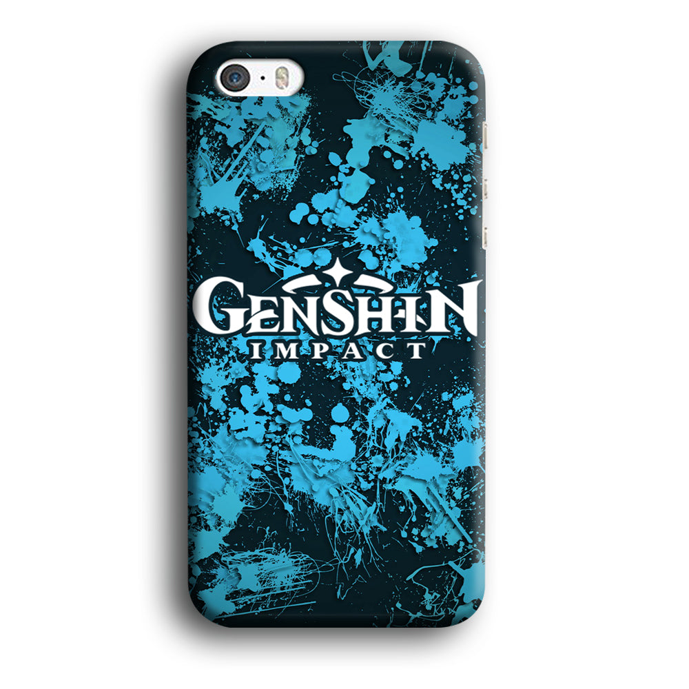 Genshin Impact Logo Blue Splash iPhone 5 | 5s 3D Case
