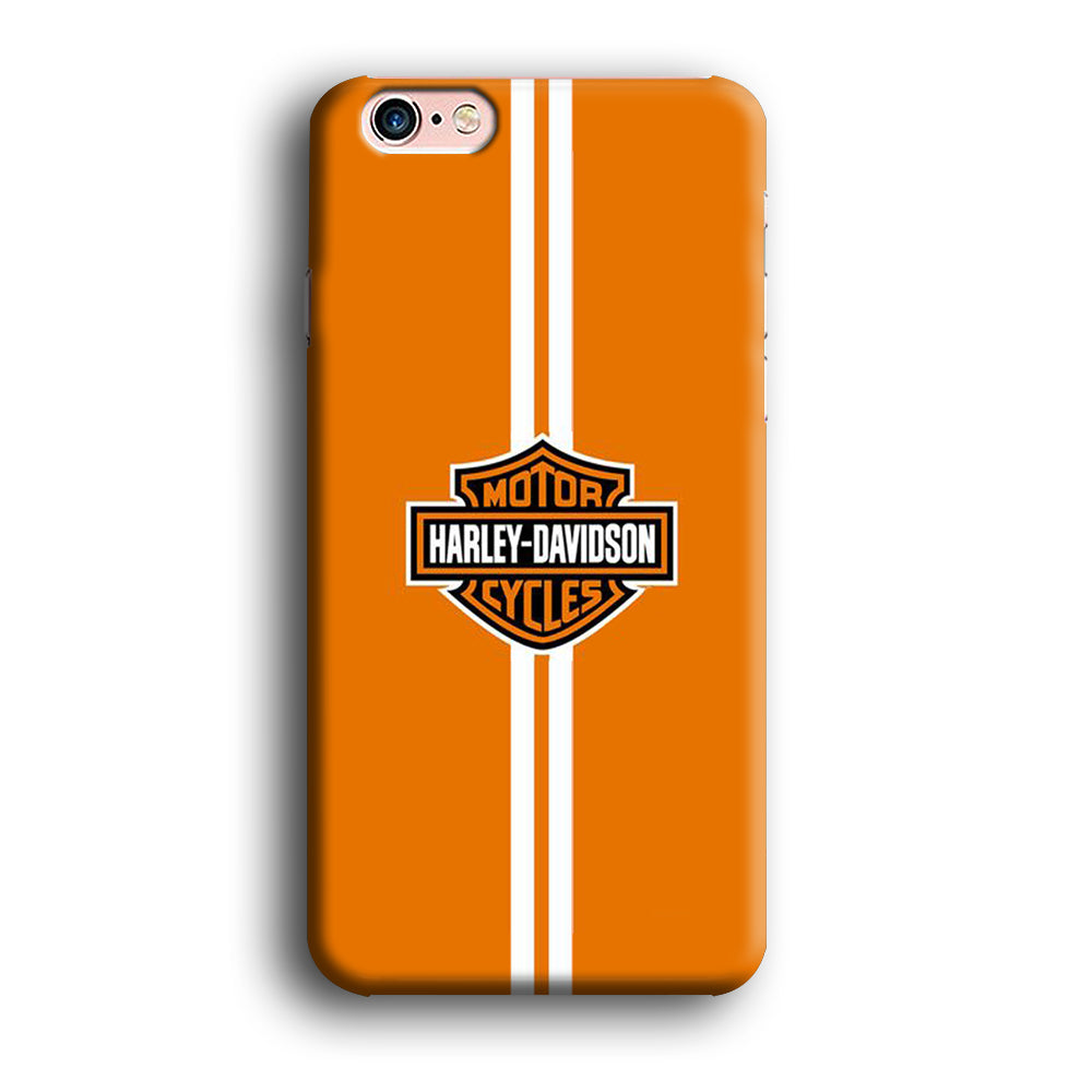 Harley Davidson Logo Yellow Stripe White Samsung Galaxy S8 Plus 3D Case