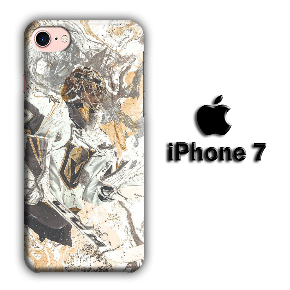 Hockey Vegas Golden Knight Marble iPhone 7 3D Case