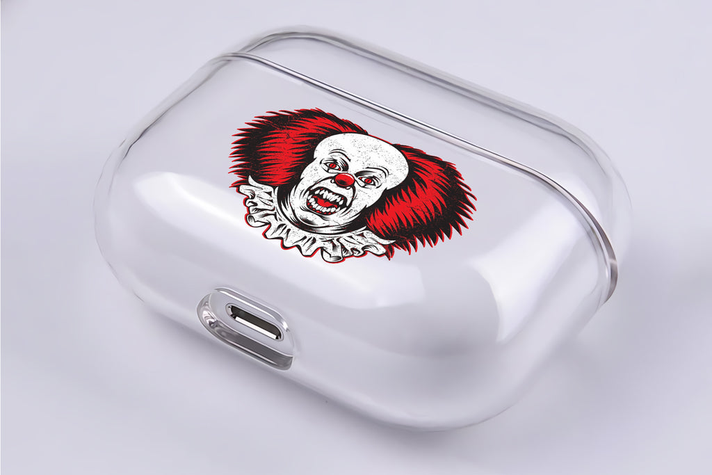 IT Movie Clown Protective Clear Case Cover For Apple Airpod Pro