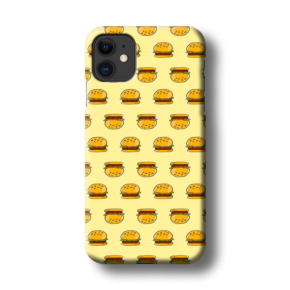 Junk Food Burger iPhone 11 3D Case