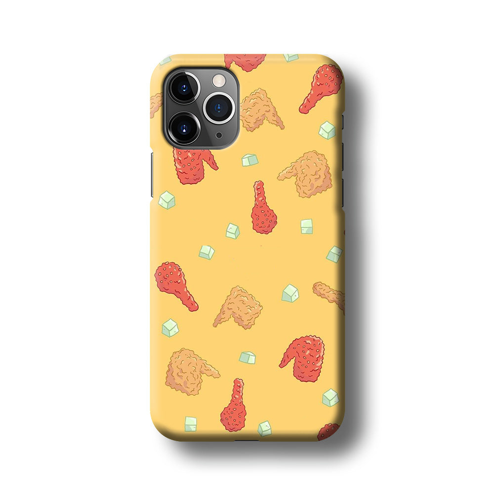 Junk Food Fried Chicken iPhone 11 Pro Max 3D Case