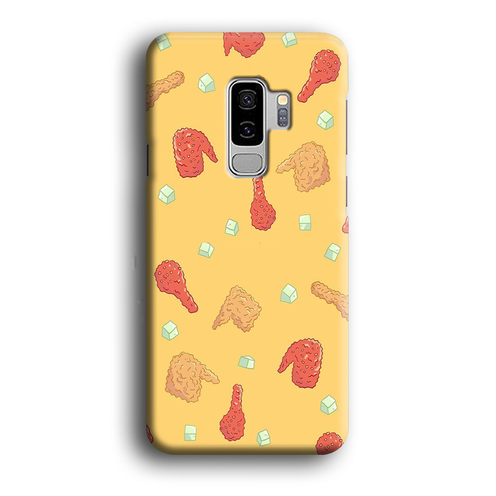 Junk Food Fried Chicken Samsung Galaxy S9 Plus 3D Case