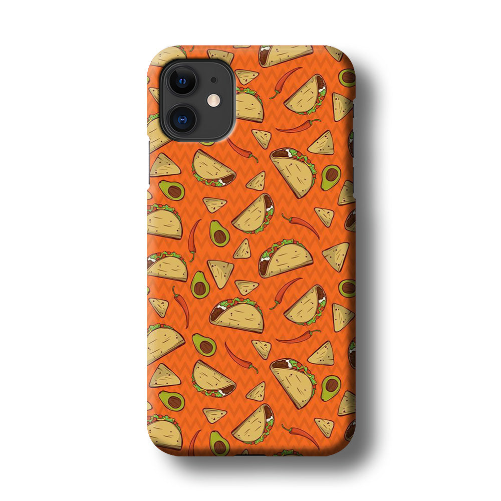 Junk Food Tacos iPhone 11 3D Case