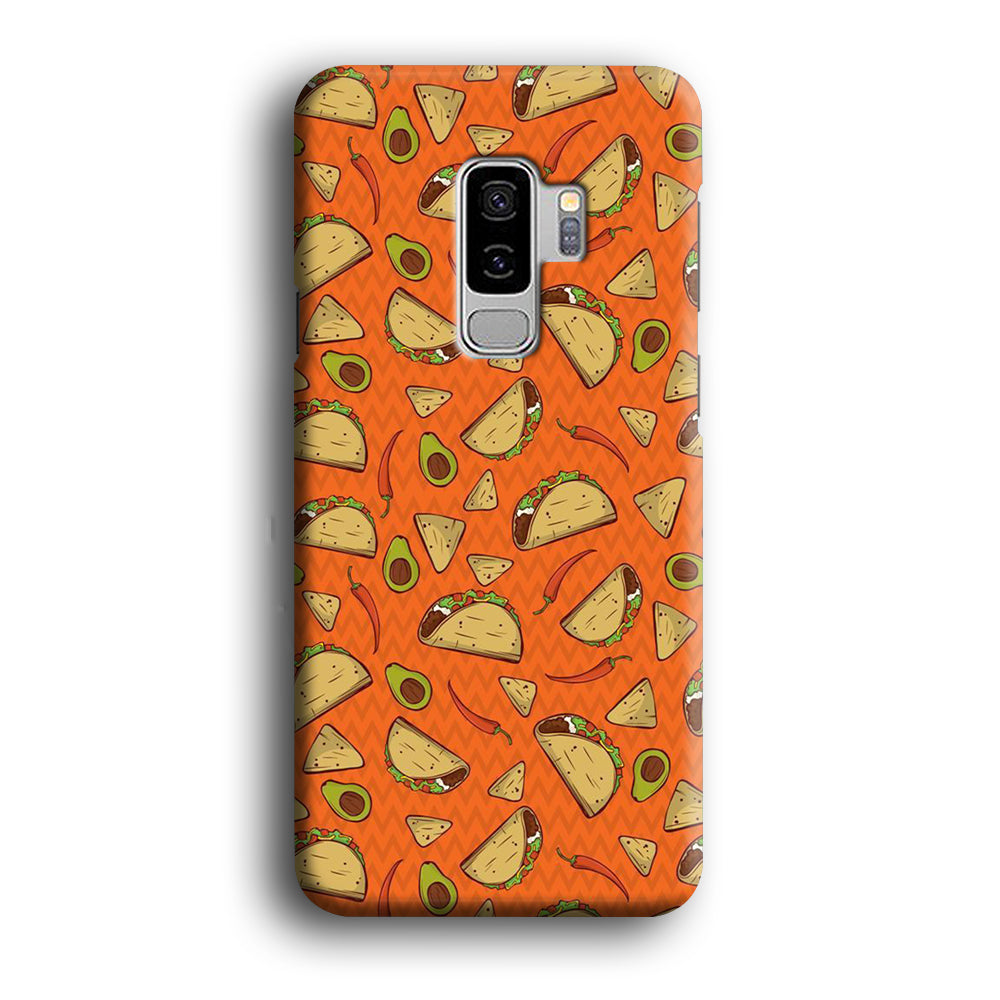 Junk Food Tacos Samsung Galaxy S9 Plus 3D Case