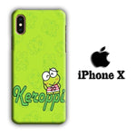 Keroppi Smile Green iPhone X 3D Case