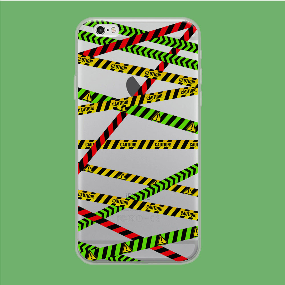 Line Caution Reg Green Yellow iPhone 6 Plus | 6s Plus Clear Case