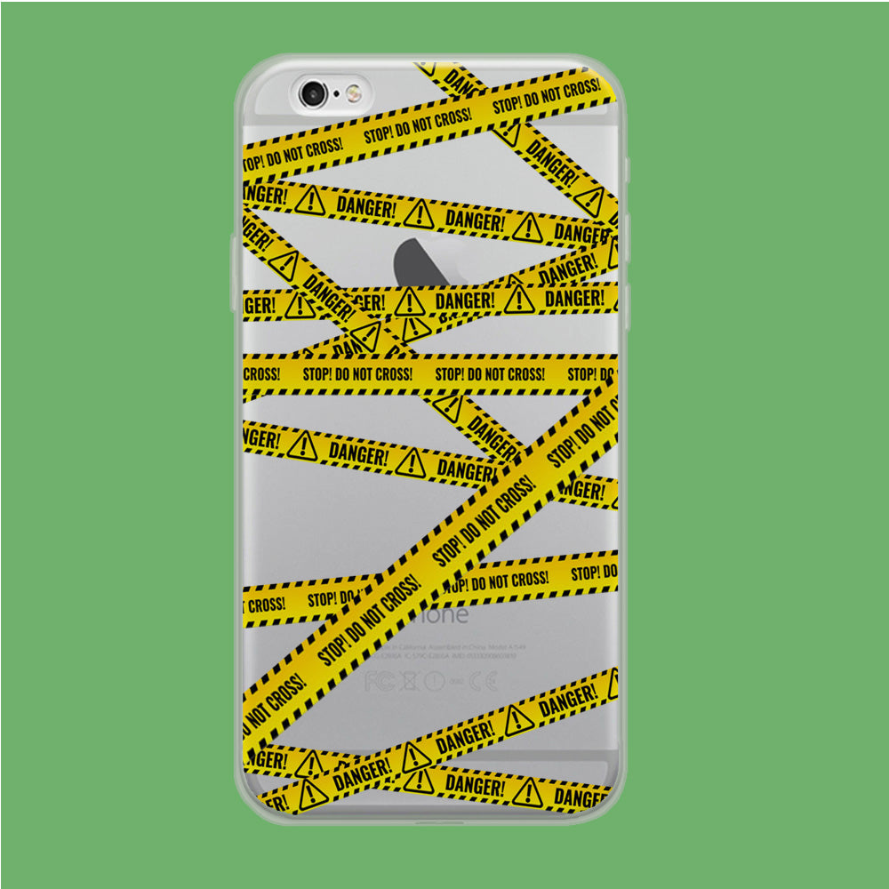 Line Yellow Danger iPhone 6 Plus | 6s Plus Clear Case