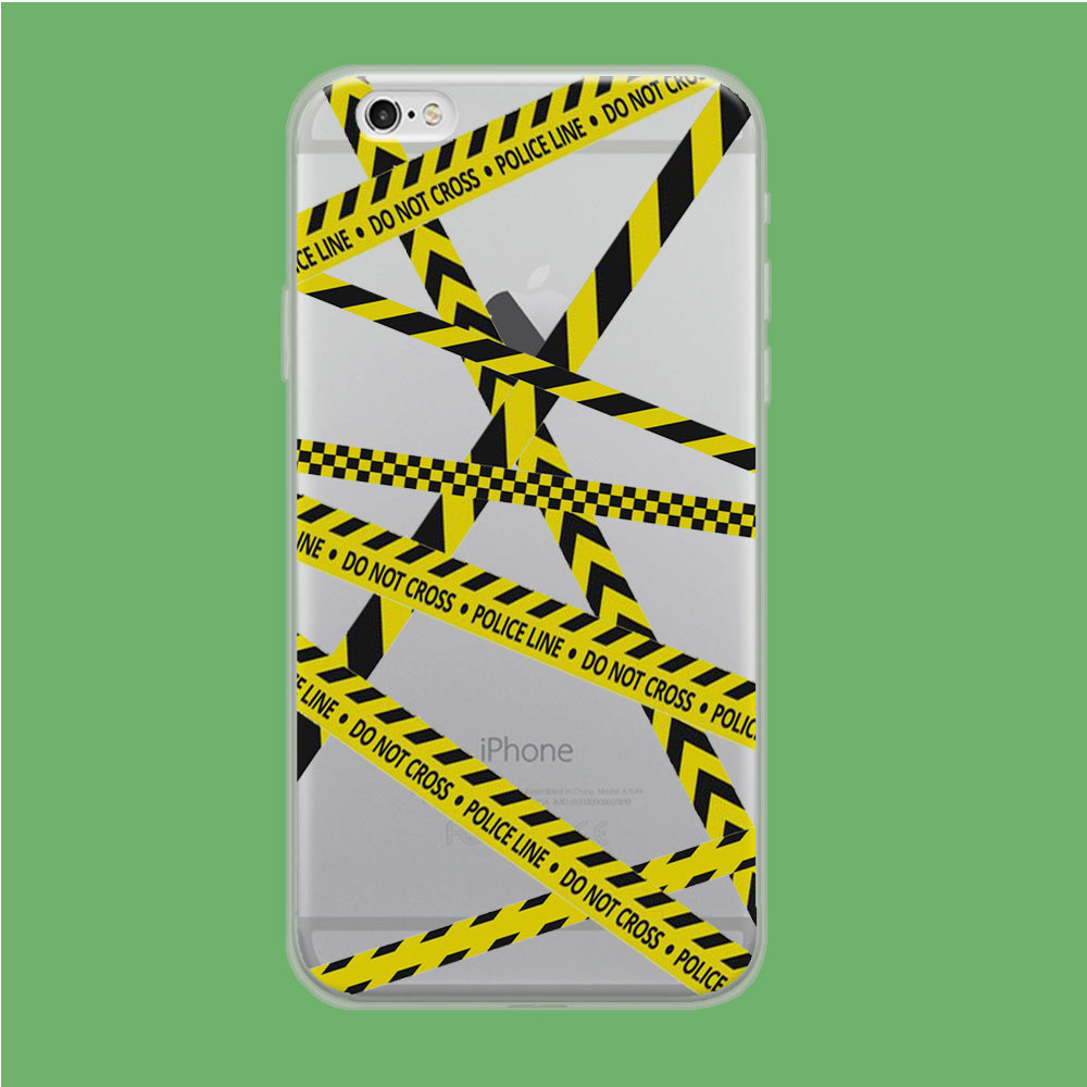 Line Yellow Do Not Cross iPhone 6 Plus | 6s Plus Clear Case