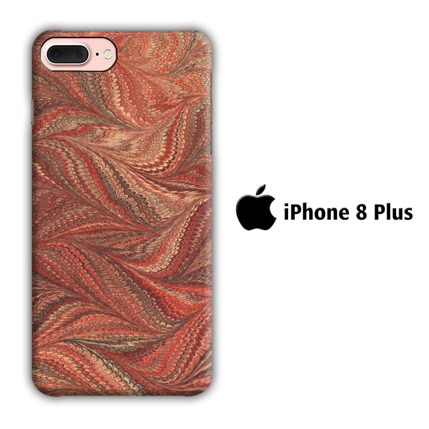 Marble Bird Skin iPhone 8 Plus 3D Case