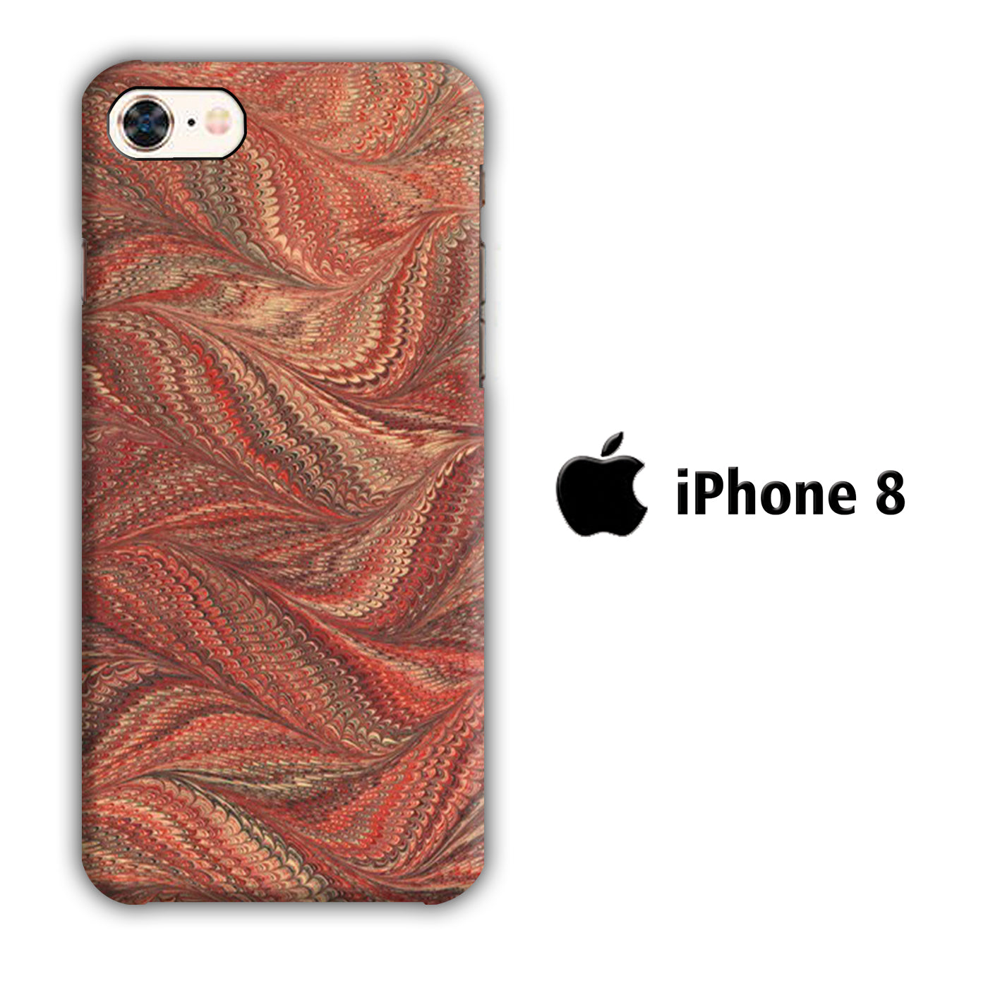 Marble Bird Skin iPhone 8 3D Case