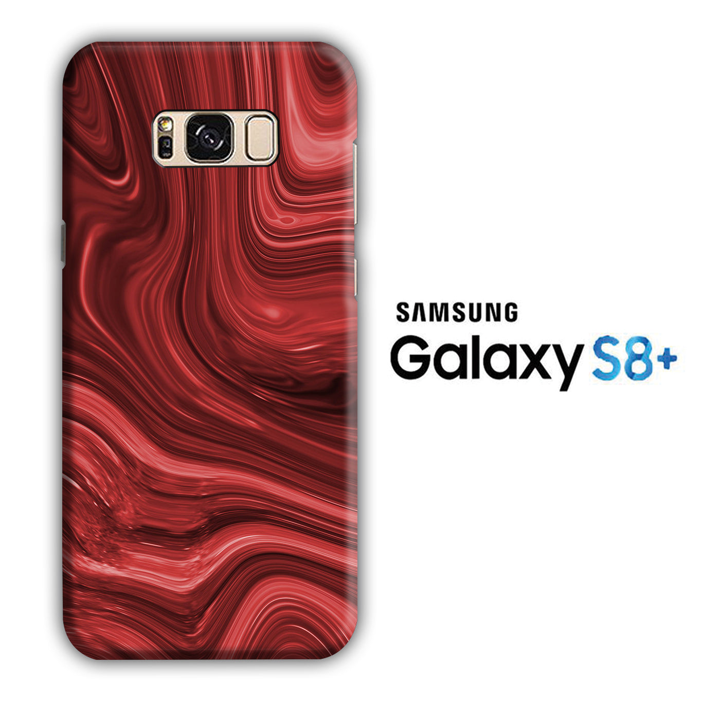 Marble Red Maroon 004 Samsung Galaxy S8 Plus 3D Case