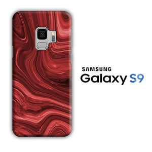 Marble Red Maroon 004 Samsung Galaxy S9 3D Case