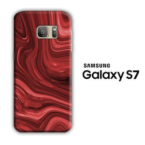 Marble Red Maroon 004 Samsung Galaxy S7 3D Case