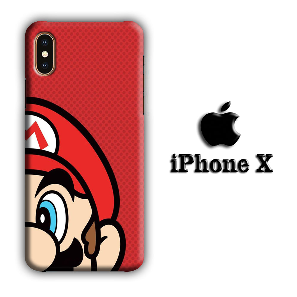 Mario Half Head iPhone X 3D Case