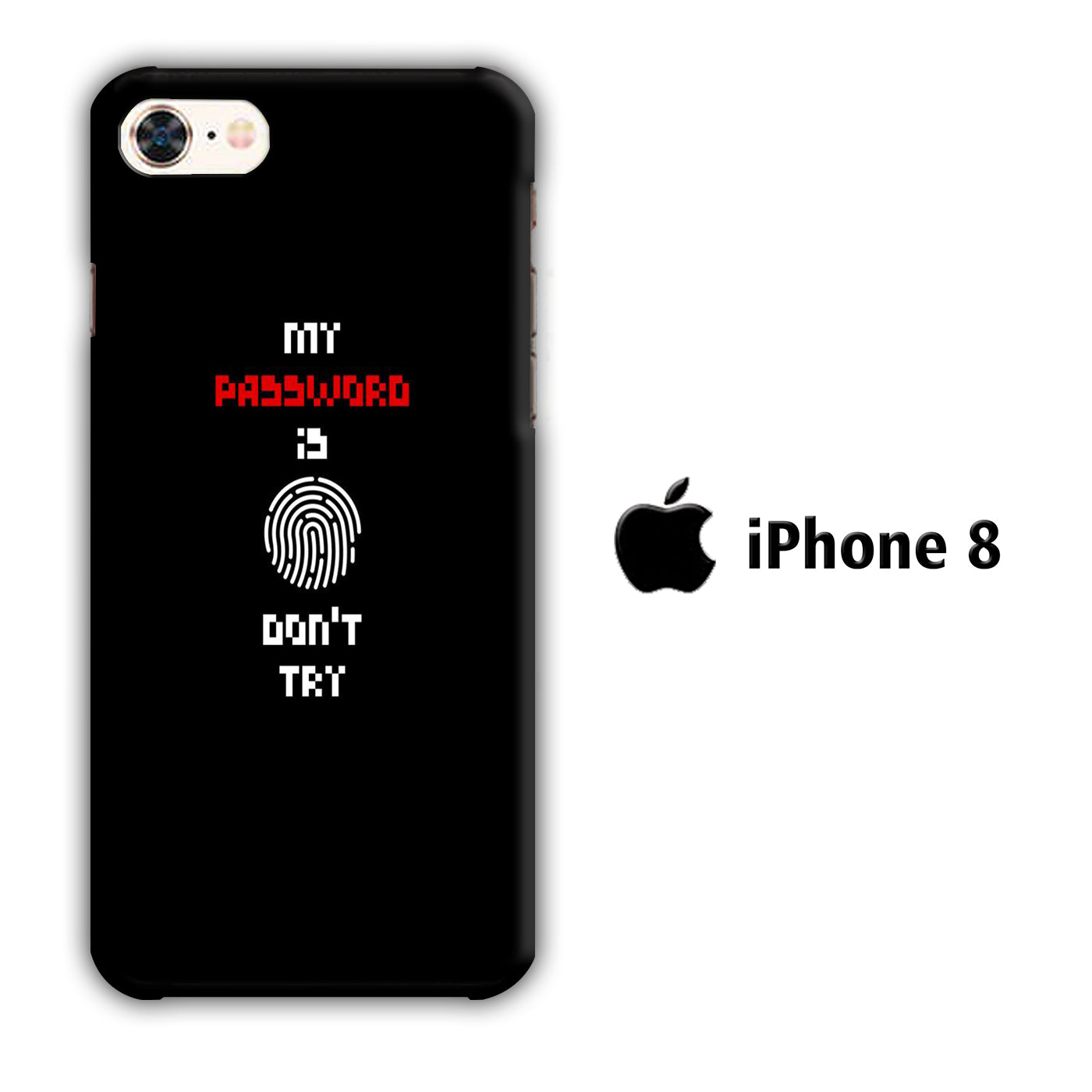 My Password iPhone 8 3D Case