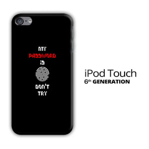 My Password iPod Touch 6 3D Case