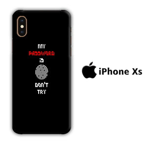 My Password iPhone Xs 3D Case