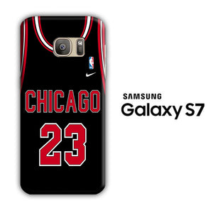 NBA Chicago Black 23 Samsung Galaxy S7 3D Case