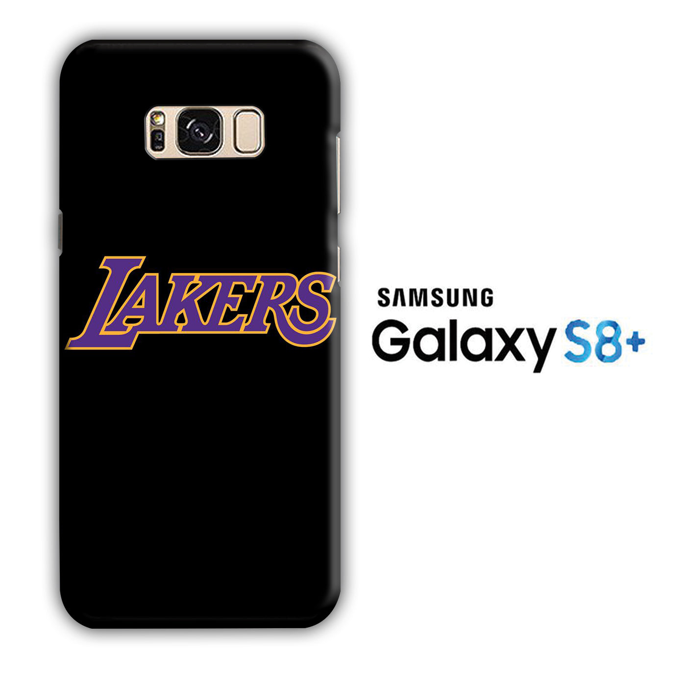 NBA Lakers Black Simple Samsung Galaxy S8 Plus 3D Case