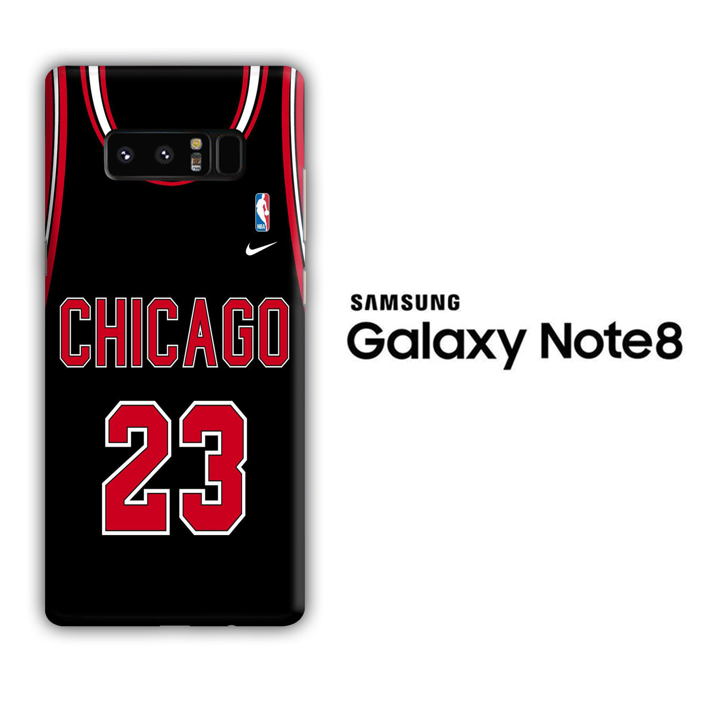 NBA Chicago Black 23 Samsung Galaxy Note 8 3D Case