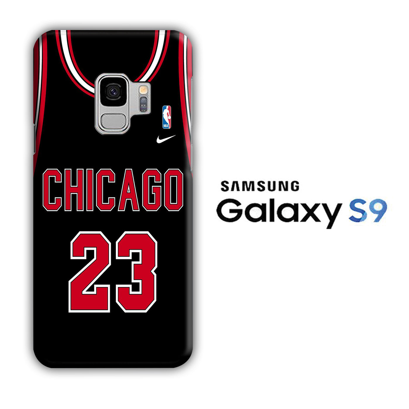NBA Chicago Black 23 Samsung Galaxy S9 3D Case