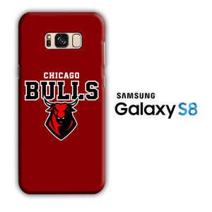 NBA Chicago Bulls Red Logo Samsung Galaxy S8 3D Case