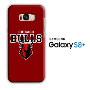 NBA Chicago Bulls Red Logo Samsung Galaxy S8 Plus 3D Case