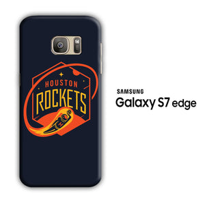 NBA Houston Rockets Navy Samsung Galaxy S7 Edge 3D Case
