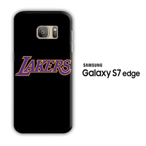 NBA Lakers Black Simple Samsung Galaxy S7 Edge 3D Case